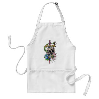Skull & Dagger Tattoo Adult Apron