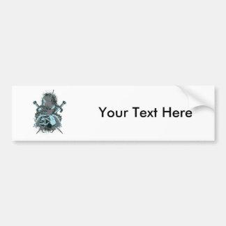 Skull ~ Daggers Tattoo Skull Fantasy Art Bumper Sticker