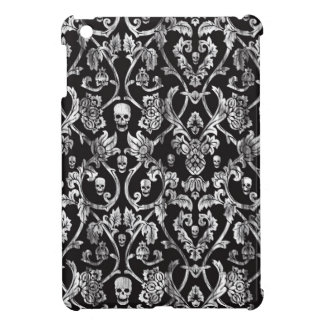 Skull damask in black and white. iPad mini covers