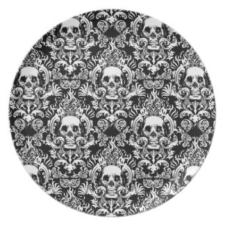 Skull Damask Plates