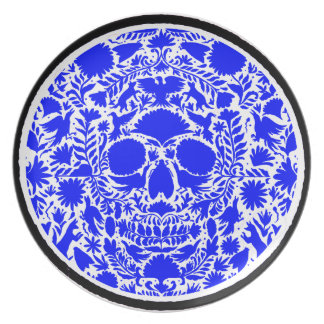 SKULL DARK BLUE PRODUCTS PARTY PLATES