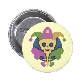 skull-de-lis-T 2 Inch Round Button