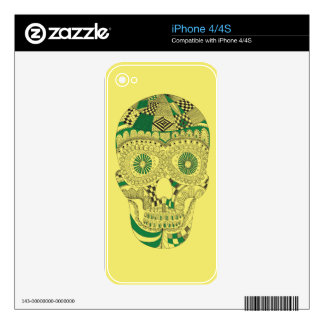 Skull decor design in abstract iPhone 4 skin