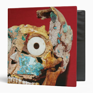 Skull decorated with a mosaic in turquoise 3 ring binder