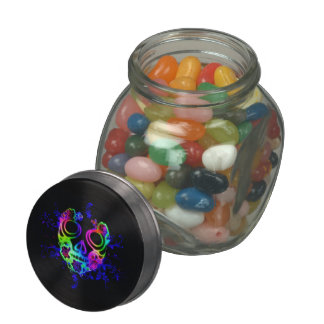 Skull design jelly belly candy jar