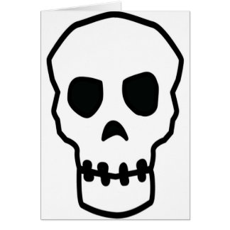 Skull Design Merchandise Card