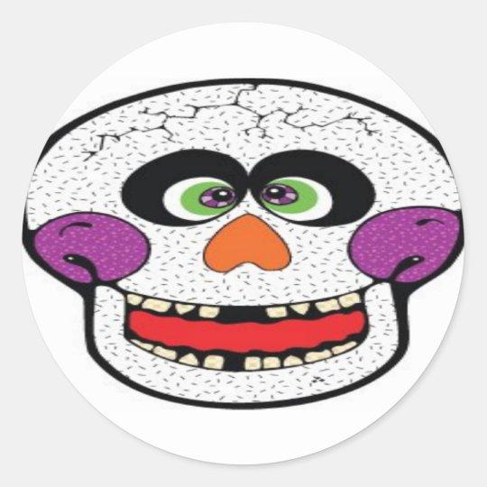 Skull Design Merchandise Classic Round Sticker
