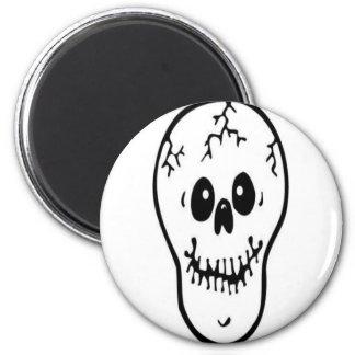 Skull Design Merchandise Magnet