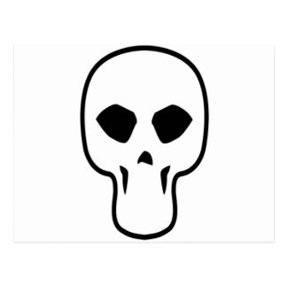 Skull Design Merchandise Postcard