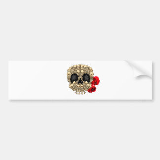 Skull Design - Pyramid of Skulls and Roses Bumper Sticker