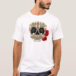 Skull Design - Pyramid of Skulls and Roses T-Shirt