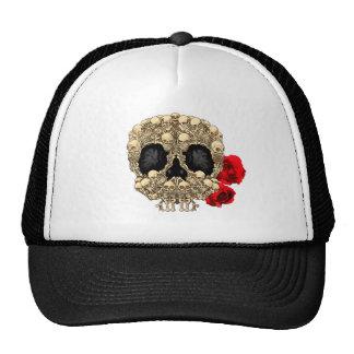 Skull Design - Pyramid of Skulls and Roses Trucker Hat