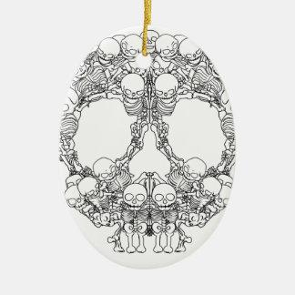Skull Design - Pyramid of Skulls Ceramic Ornament