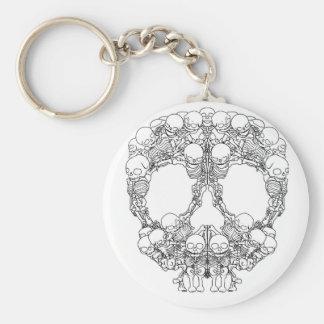 Skull Design - Pyramid of Skulls Keychain