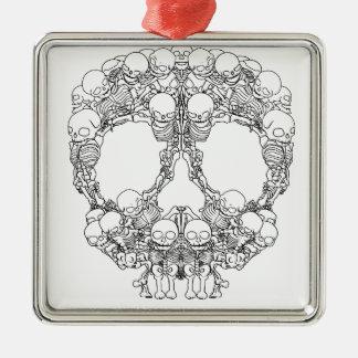 Skull Design - Pyramid of Skulls Metal Ornament