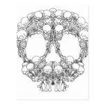 Skull Design - Pyramid of Skulls Post Card