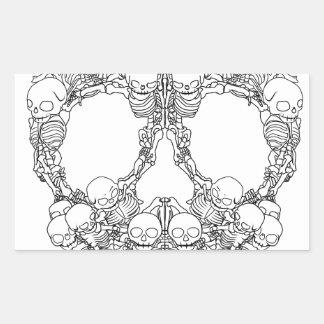 Skull Design - Pyramid of Skulls Rectangular Sticker