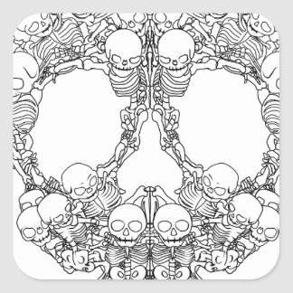 Skull Design - Pyramid of Skulls Square Sticker
