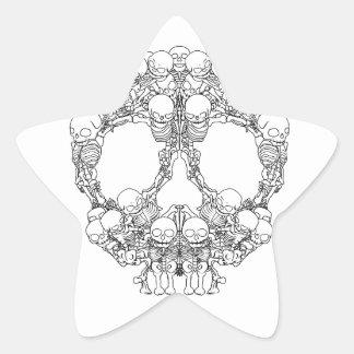 Skull Design - Pyramid of Skulls Star Sticker