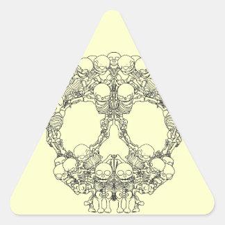 Skull Design - Pyramid of Skulls Triangle Sticker