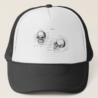 Skull Details Side and Face Trucker Hat