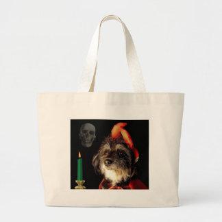 Skull, Devil, and Candle Jumbo Tote Bag