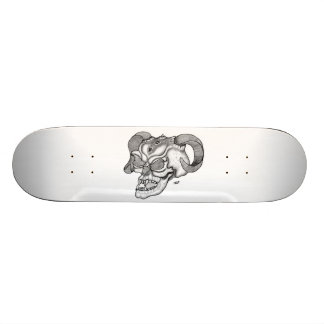 Skull - devil head black knows design skateboard deck