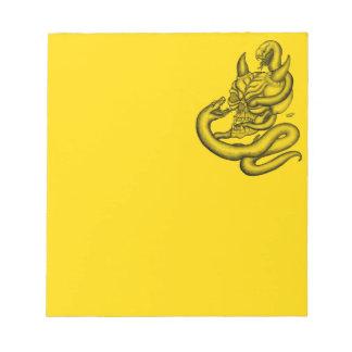 Skull - Devil Head with Snake Notepad