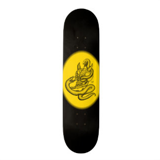 Skull - devil heads with snake skateboards