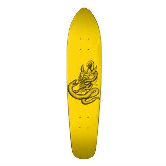 Skull - devil heads with snake skate board decks
