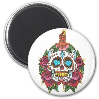Skull Diamond Candle Rose by Tyler 2008 2 Inch Round Magnet