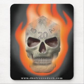 Skull Die Mouse Pad