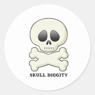 Skull-Diggity-Boy Classic Round Sticker