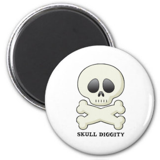 Skull-Diggity-Boy Refrigerator Magnets