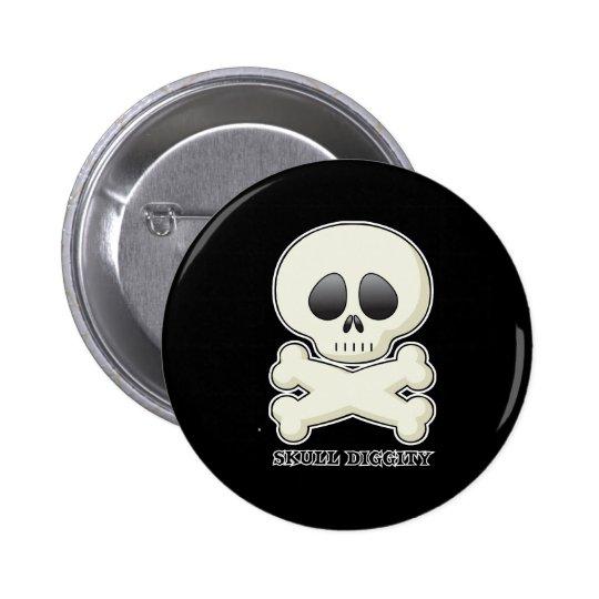 Skull-Diggity-Boy Pinback Button