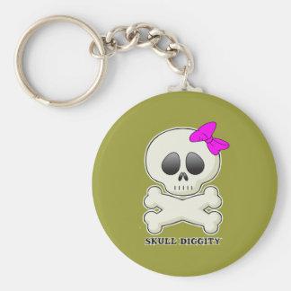 Skull-Diggity-Girl Key Chain