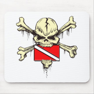 skull dive flag mouse pad