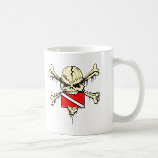 skull dive flag mug