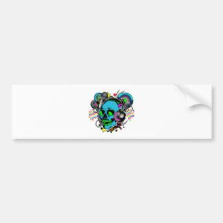 Skull DJ Bumper Sticker
