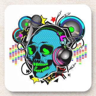Skull DJ Drink Coasters