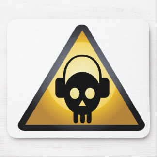 skull dj mouse pad