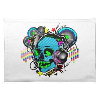 Skull DJ Placemat