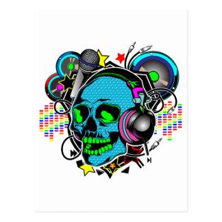 Skull DJ Postcard