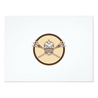 Skull Dolphin Fish Crossed Spears Circle Retro Card