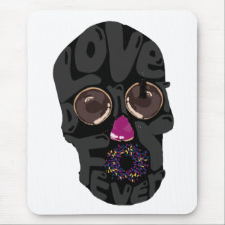 skull-donut mouse pad