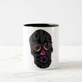skull-donut Two-Tone coffee mug