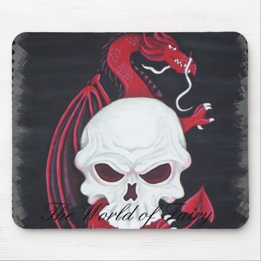 Skull Dragon mouse pad
