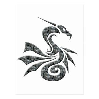 Skull Dragon Postcard