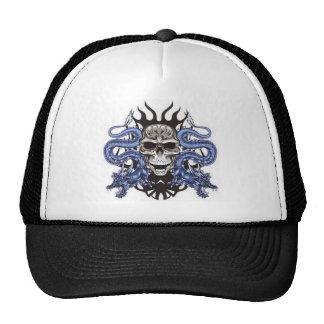 skull dragons design trucker hat