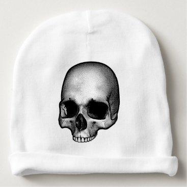 Halloween Themed Skull Drawing Baby Beanie